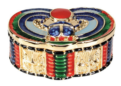 Winged Scarab Jeweled Box
