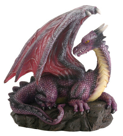 Purple Dragon on Rock