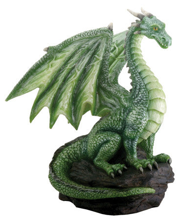 Green Dragon on Rock