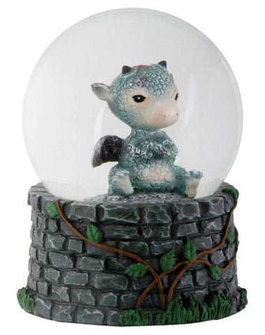 Sulky Dragon Water Globe (65mm)