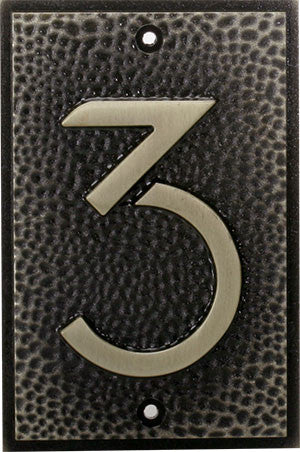FLW Zinc Alloy House Number 3