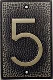 FLW Zinc Alloy House Number 5
