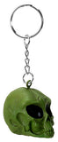 Green Alien Skull Key Chain