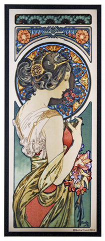 Mucha Primrose Art Glass