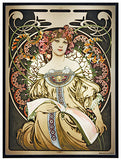 Mucha Reverie Art Glass