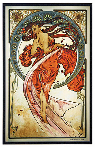 Mucha Arts Dance Art Glass