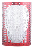 DOD Skull Votive Holder - Red