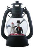 Lantern Water Globe Bride & Groom Bust with LED Light