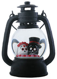 Lantern Water Globe Bride & Groom Head with LED Light