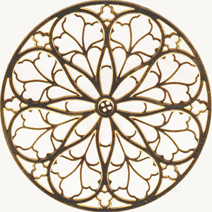 St. Patricks Cathedral Rose Window Ornament