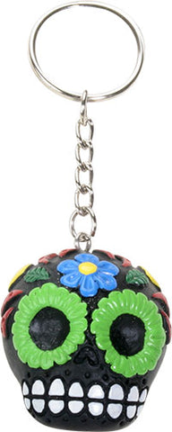 Black Sugar Skull Key Chain