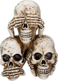 Hear, See & Speak No Evil Skulls