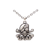 Air Force Skull Necklace