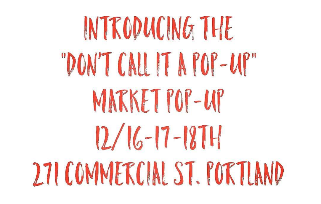 PORTLAND MAKERS POP UP SHOP