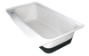 RV Bath Tub Left Hand Drain TU600LH (00478) Polar White