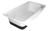 RV Bath Tub Right Hand Drain TU600RH (00480) Polar White