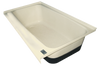 RV Bath Tub Left Hand Drain TU700LH (00481)  Colonial White