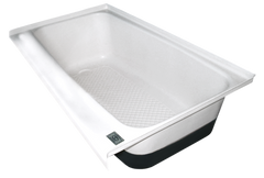 RV Bath Tub Left Hand Drain TU700LH (00482) Polar White