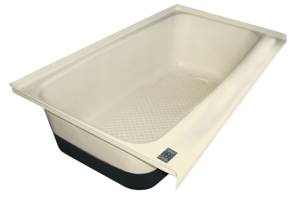 RV Bath tub Right Hand Drain TU700RH (00483) Colonial White