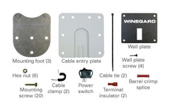 Winegard Satellite TV Antenna Roof Mount Kit - The RV Parts House