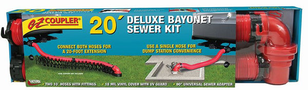 EZ Coupler Deluxe Bayonet Sewer Hose Kit, 20′ - by Valterra