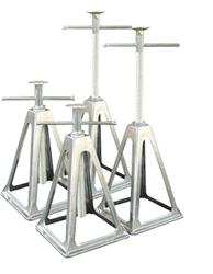 Trailer Stabilizer Jack Stand Extends From 11 Inch To 17 Inch Height; Aluminum; Set Of 4 (48-979004)