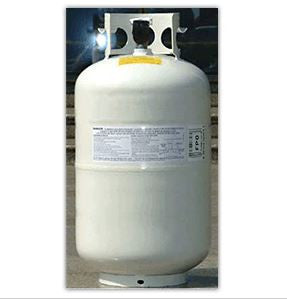Liquid Propane Cylinder, #30DOT OPD shown in white