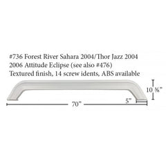 Forest River RV Fiberglass Tandem Fender Skirt (736)