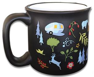 Mug; Travel Mug; 15 Ounce Capacity; Into the Woods; Dishwasher And Microwave Safe (CC-004BLK)