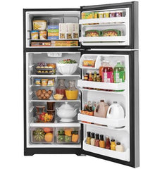 GE® 17.5 Cu. Ft. Top-Freezer Refrigerator - Stainless