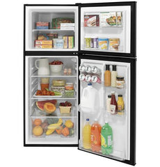 GE 9.8 Cu. Ft. 12 Volt DC Power Top-Freezer Refrigerator - Black direct replacement for the DM2852 but 12 volt only