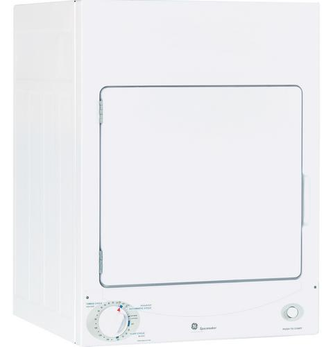 GE Spacemaker® 120V 3.6 cu. ft. Capacity Stationary Electric Dryer DSKS333ECWW