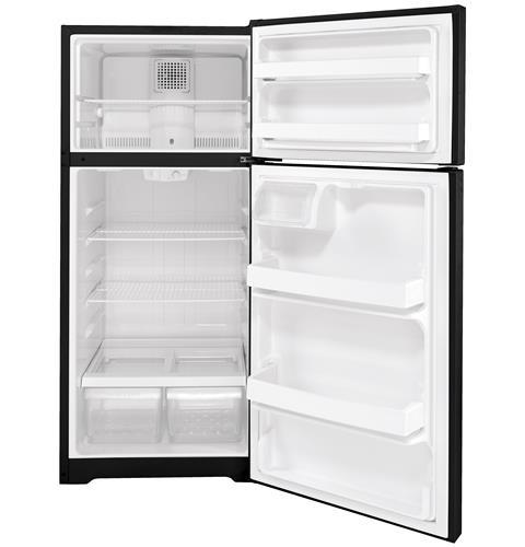 GTS17DTNRBB - GE® 16.6 Cu. Ft. Top-Freezer Refrigerator - Black - The RV Parts House