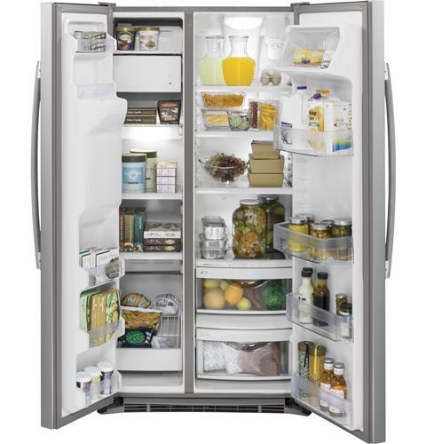 GE® 17.5 Cu. Ft. Counter-Depth French-Door Refrigerator (GYE18JSLSS)