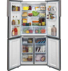 Haier 16.4 Cu. Ft. Quad Door RV Refrigerator HRQ16N3BGS
