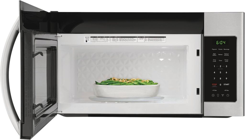 Interior view of the Frigidaire 1.8 Cu. Ft. Over-The-Range Microwave Stainless