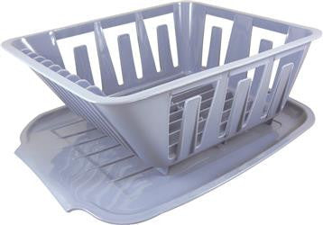 Mini Dish Drainer by Valterra shown in grey