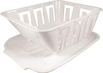 Mini Dish Drainer by Valterra shown in white