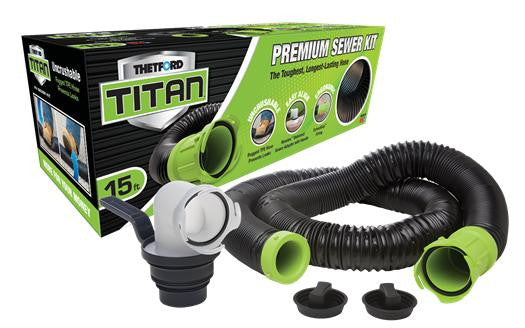 New Thetford Titan® Premium RV Sewer Kit System with a 15-foot hose