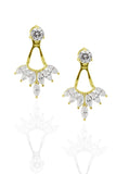 Yellow Gold Tutu Earrings