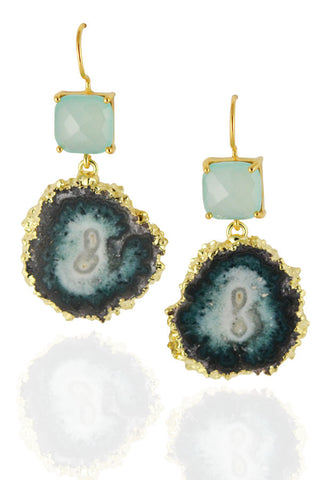 Stalactite Earrings with Chalcedony