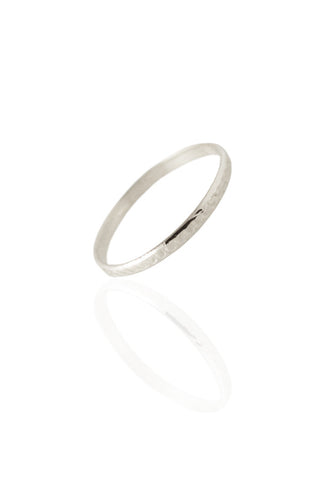 White Gold Midi Ring