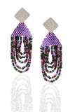 Lavender Fringe Earrings