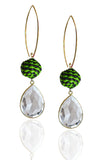 Lime + Navy Pepita Earrings