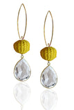 Yellow Pepita Earrings