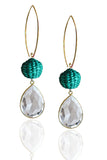 Teal Pepita Earrings
