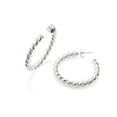 M Thick Twisted Earrings