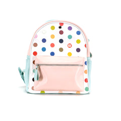 Backpack Dots in Pink and Blue