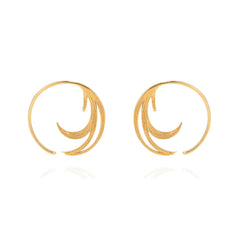 Duck Feather Hoop Earrings