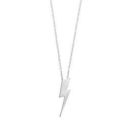 Flat Top Lightening Bolt Pendant